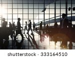 international airport airplane... | Shutterstock . vector #333164510