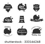 collection of thanksgiving day... | Shutterstock .eps vector #333166268