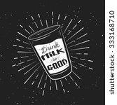 vintage typography illustration ... | Shutterstock .eps vector #333168710