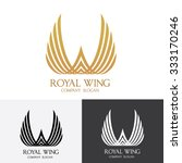 royal wing  logo vector template | Shutterstock .eps vector #333170246