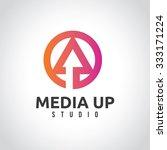 media logo vector logo template | Shutterstock .eps vector #333171224