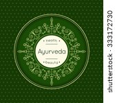 ayurveda vector illustration.... | Shutterstock .eps vector #333172730