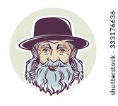 Old Jewish Man  Vector Portrait ...