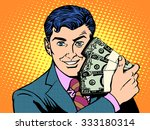 rich with wads of dollars. the... | Shutterstock .eps vector #333180314