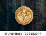how to make latte art coffee | Shutterstock . vector #333183344