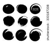 abstract black circle strokes... | Shutterstock .eps vector #333187208