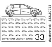 car icons drawing big set | Shutterstock .eps vector #333187733