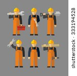 vector construction... | Shutterstock .eps vector #333194528