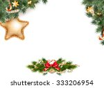 christmas background with... | Shutterstock .eps vector #333206954