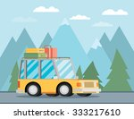 travel car. vector illustration. | Shutterstock .eps vector #333217610