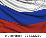 image of a waving flag of russia | Shutterstock . vector #333222290