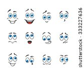 different funny emotions with...   Shutterstock .eps vector #333227636
