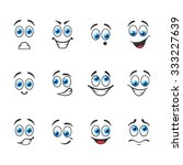 different funny emotions with... | Shutterstock .eps vector #333227639
