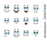 different funny emotions with...   Shutterstock .eps vector #333227669