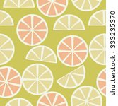 seamless    pattern  of citrus... | Shutterstock . vector #333235370