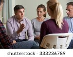 members of support group... | Shutterstock . vector #333236789