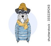 schnauzer dog sailor  nautical... | Shutterstock .eps vector #333239243