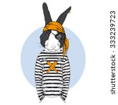 bunny pirate  animal... | Shutterstock .eps vector #333239723