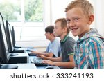 group of male elementary school ... | Shutterstock . vector #333241193
