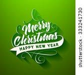 christmas greeting card design. ... | Shutterstock .eps vector #333241730