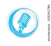 microphone icon in the ... | Shutterstock .eps vector #333241784