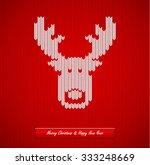 christmas knitted background... | Shutterstock .eps vector #333248669