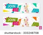 vector promotional banner join...   Shutterstock .eps vector #333248708