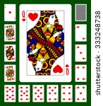playing cards of hearts suit... | Shutterstock .eps vector #333248738