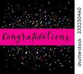 congratulations  modern... | Shutterstock .eps vector #333250460