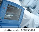 modern icu monitor in clinical... | Shutterstock . vector #333250484