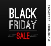 black friday sale poster design ... | Shutterstock . vector #333254063