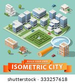 build your own isometric city.... | Shutterstock .eps vector #333257618