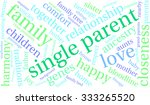 single parent word cloud on a... | Shutterstock .eps vector #333265520