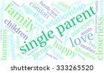 single parent word cloud on a... | Shutterstock .eps vector #333265520