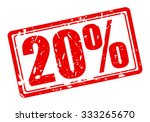 20 percent red stamp text on... | Shutterstock .eps vector #333265670