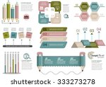 collection of infographic set... | Shutterstock .eps vector #333273278
