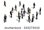 crowd of people isolated on... | Shutterstock . vector #333273410