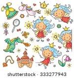 little cartoon fairy set with a ... | Shutterstock .eps vector #333277943