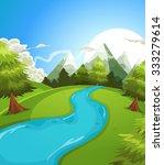 Cartoon Summer Mountains...