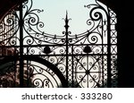 Close Up Of A Wrought Iron Gate ...