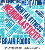 neuroplasticity word cloud on a ... | Shutterstock .eps vector #333286043