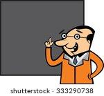 teacher character with... | Shutterstock .eps vector #333290738