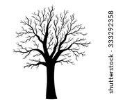 vector tree silhouette  | Shutterstock .eps vector #333292358