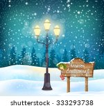 winter holidays landscape with... | Shutterstock .eps vector #333293738