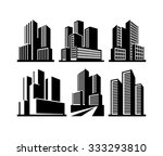 city skyline and buildings... | Shutterstock .eps vector #333293810