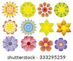flowers vector   Shutterstock .eps vector #333295259