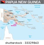 Map of Papua New Guinea - stock vector