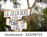 la jolla street sign | Shutterstock . vector #333298724