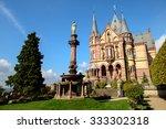 colomn of castle drachenburg ... | Shutterstock . vector #333302318
