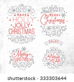 christmas decorative elements... | Shutterstock .eps vector #333303644